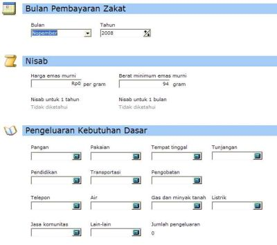 Kazaga - Software Kalkulator Zakat Gaji | DOWNLOAD GRATIS